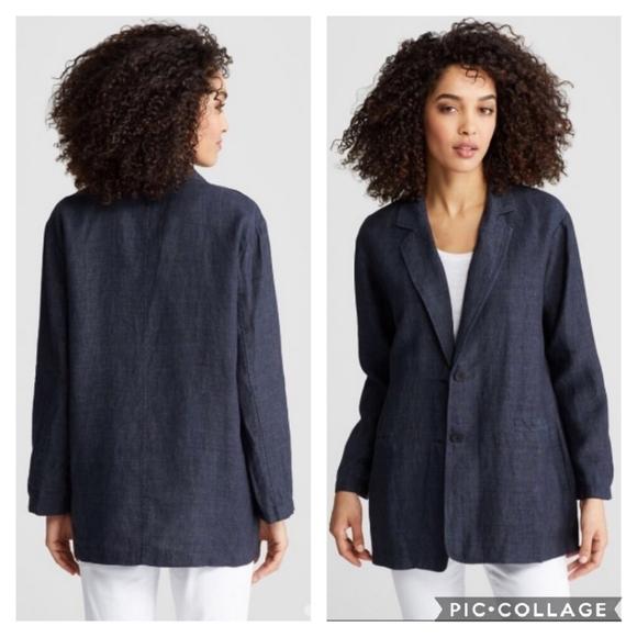 Eileen Fisher Jackets & Blazers - Eileen Fisher   100% Linen Blazer Jacket S…